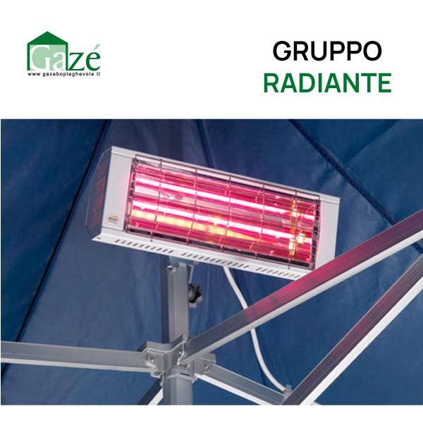 Gruppo radiante riscaldante per gazebo pieghevole - GAZE'