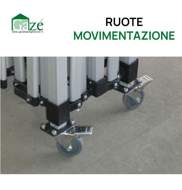 Ruote movimentazione per gazebo pieghevole - GAZE'