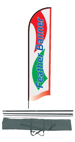 Bandiera a goccia con stampa