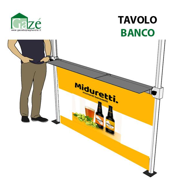 Tavolo banco - gazebo